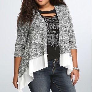Torrid Marled Knit Open Cardigan Size 4